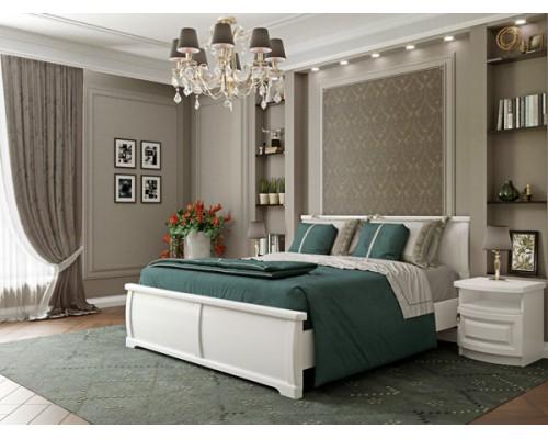 Кровать Омега белая