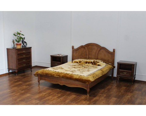 Кровать Альматея (фигурное деревянное изголовье)