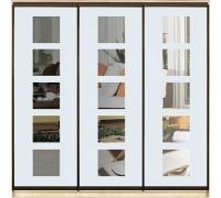 Шкаф-купе  Стандарт 3-х дверный Зеркало с рисунком пескоструй