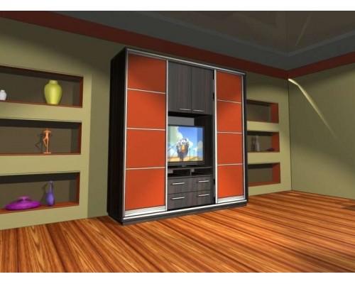 Шкаф-купе под телевизор К26