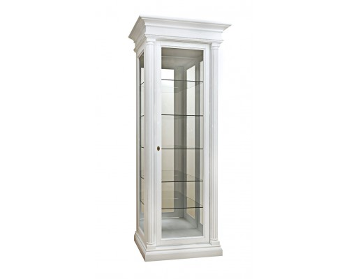Витрина 1-дв. Соната (стекло) белая